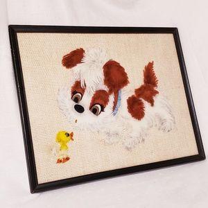 """Vintage Mid-century Era """"Puppy Goes Quack Quack"""""""